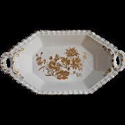 English Bone China Vintage Hammersley Dish Candy Trinket All Gold White