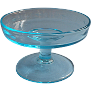 Celeste Blue Vintage 1920s Compote For Cracker Plate Vintage