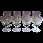 Smoke Color Stemware Vintage Glasses Water Wine