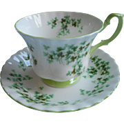 Royal Albert Shamrock Cup Saucer Vintage Bone China English