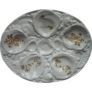 Oyster Plate Antique Victorian China C. Tielsch