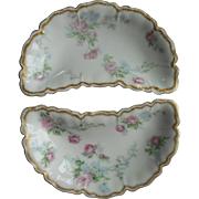 Haviland Limoges Schleiger 261 Bone Dishes Double Gold French China