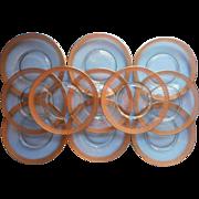 Tiffin Minton Set 12 Plates Gold Encrusted Vintage Salad Dessert