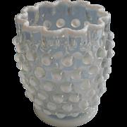 Antique Spooner Northwood French Opalescent Hobnail Glass