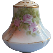 Antique China Shaker Pink Roses Hand Painted Salt or Pepper Single