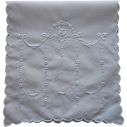Appenzell Hankie Fold Case Vintage 1910s to 1920s Hand Embroidered Name Pauline
