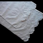 1920s Italian Pillowcases Vintage Cutwork Cotton