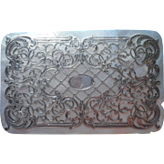 Mother Of Pearl Silver Antique Box Lid Decoration Plaque