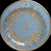 Engraved Gold Glass Antique Low Bowl Dish Lemon Tea Table