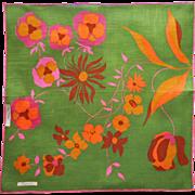 Marielle Hankie Signed Original Labels Vintage Irish Linen Mod Print