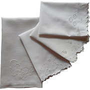 Antique Towels Whitework Hand Embroidery Linen