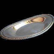 Vintage bread Tray Silver Plated Oneida Flower Motif Rim
