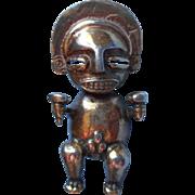 Vintage Alva Reproductions Pin Pendant Mayan God Pre Columbian