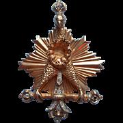 Nettie Rosenstein Vintage Brooch Pin TLC Imperial Eagle Scepter