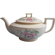 Peony Homer Laughlin Teapot Vintage China Pink Cream Green
