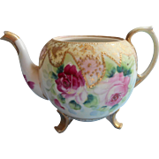Nippon Teapot Antique Hand Painted China No Lid As Is Pink Roses