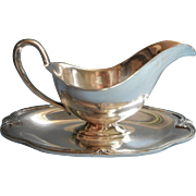 Moonbeam Pattern Vintage Silver Plated Gravy Boat International