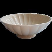 Lenox Bowl Vintage USA Ivory Fluted Pedestal