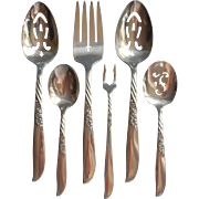 Always 1958 Wildwood Serving Pieces Flatware Vintage Silver Plated