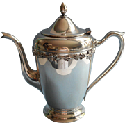 Vintage Grapes Motif Coffee Pot Silver Plated Wm. A. Rogers