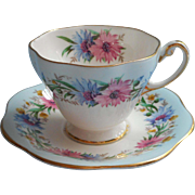 Foley Cornflower Demitasse Cup Saucer Vintage English Bone China