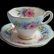 Foley Cornflower Demitasse Cup Saucer Vintage English Bone China