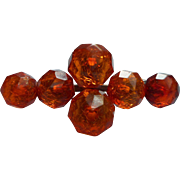 Victorian Amber Pin Antique Faceted TLC Needed