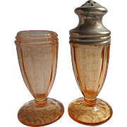 1920s Henna Color Glass Salt  Shaker