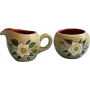 Stangl Star Flower Individual Creamer Sugar Bowl Vintage Pottery