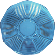 Caribbean Punch Bowl Under Plate Platter Vintage Glass Duncan Miller