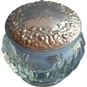 Vintage Vanity Jar Monogram H Houbigant Chantilly