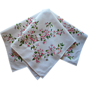 Wilendur Apple Blossom Vintage Printed Cotton Tea Tablecloth Topper