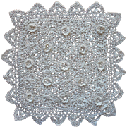 Antique Irish Crochet Lace Hot Pad Cover Pouch