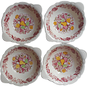 Taylor Smith Taylor Vintage Tab Handle Bowls Fruit Flowers