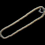 Vintage 1960s Majorica Faux Pearls Necklace 915 Silver Clasp
