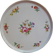 Antique French Limoges Tray China Hand Painted Round