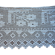 Antique Lace Deep Crocheted Trim Yardage For Curtain