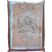 Vintage Aqua Satin Pillowcase Original Packaging Fun Beauty Hairdo