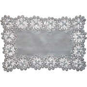 Antique Teneriffe Lace Tray Cloth Linen