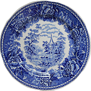 Arabia Landscape Blue Bread Plate Vintage China Finland Blue And White