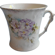 Antique China Mug Cup Purple Flowers Sweet Feminine