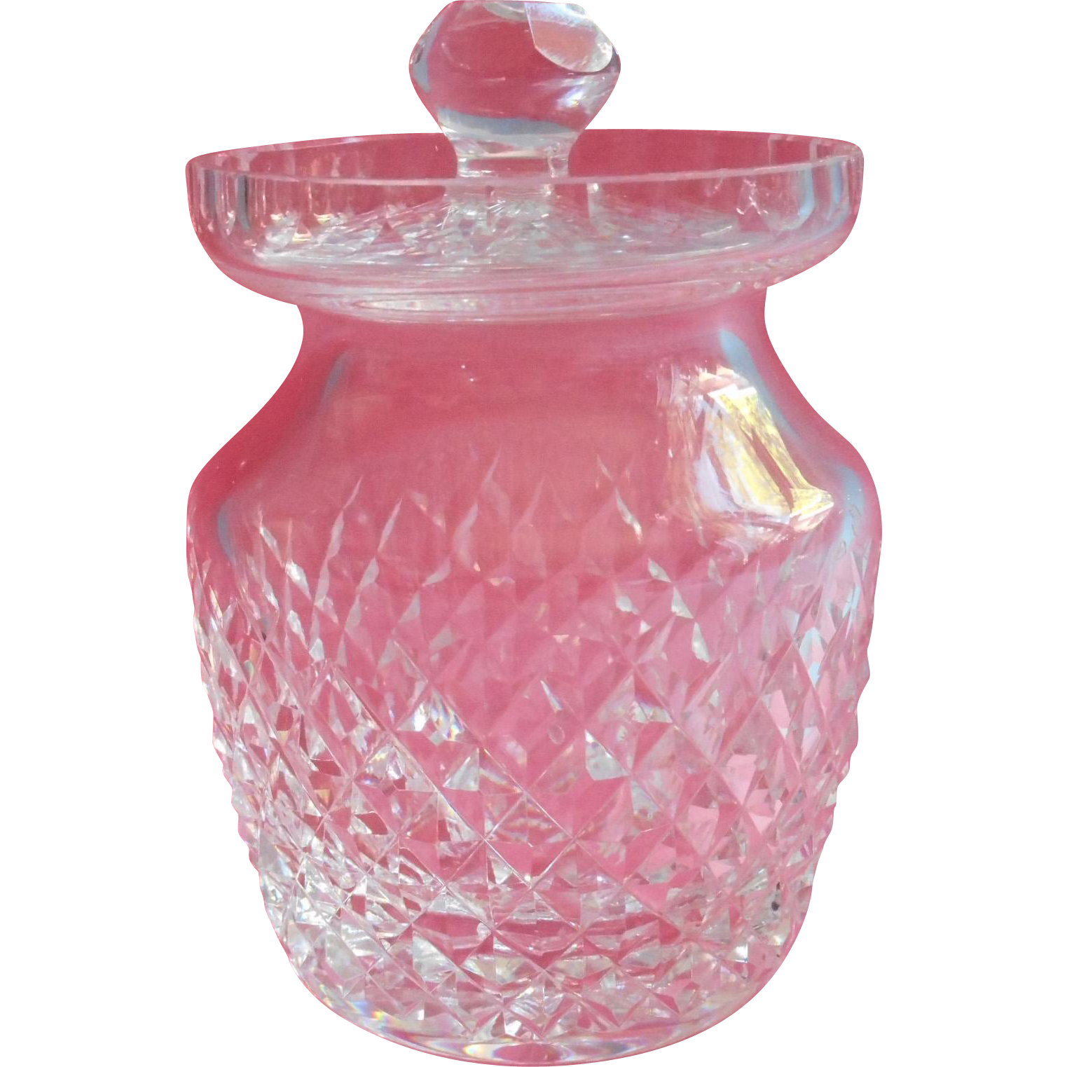 Waterford Alana Jam Pot Marmalade Jar Vintage Cut Glass ... |Marmalade Pot