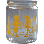 Nursery Jar Vintage Yellow Children Toys Decoration Glass