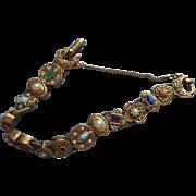 Vintage Slide Bracelet Slider 1960s Victorian Revival Style