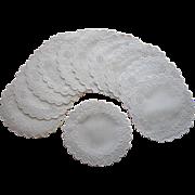 Finger Bowl Doilies Coasters Antique Linen Cutwork Embroidery Set 11