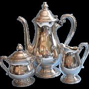Vintage Tea Set Coffee Camille Pattern Silver Plated International