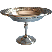Vintage Reed And Barton Pedestal Candy Dish Silver Plated