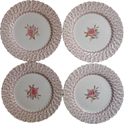 Rose Bouquet Johnson Brothers Vintage 4 Dinner Plates England China