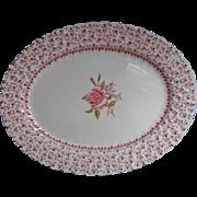 Rose Bouquet Johnson Brothers Vintage Platter  England China