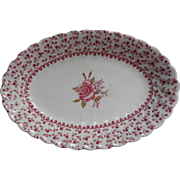 Rose Bouquet Johnson Brothers Vintage Relish Dish Gravy Under Plate England China